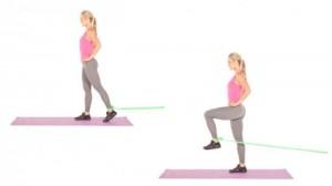 Standing Hip Flexion Psoas Muscle Strengthening